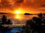 Agana Bay at Sunset  Tamuning  Guam