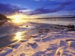 Sunset Over Knik Arm and Six Mile Creek  Alaska