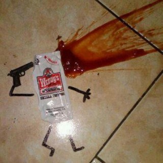 ketchup packet suicide