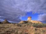 Sandstone Tower  Chambers Pillar Historical Reserve  Northern Territory  Australia