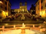Trinita dei Monti Church  Spanish Steps  Rome  Italy