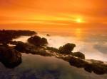 Orange Sunset  Verdes Peninsula  California