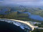 Port Davey  Stephens Bay  Hannant Inlet and Mount Rugby  Tasmania  Australia