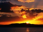 Sunset Over Scrabo Tower  Strangford Lough  County Down  Ireland