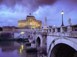 Castel Sant Angelo and Bridge  Rome  Italy
